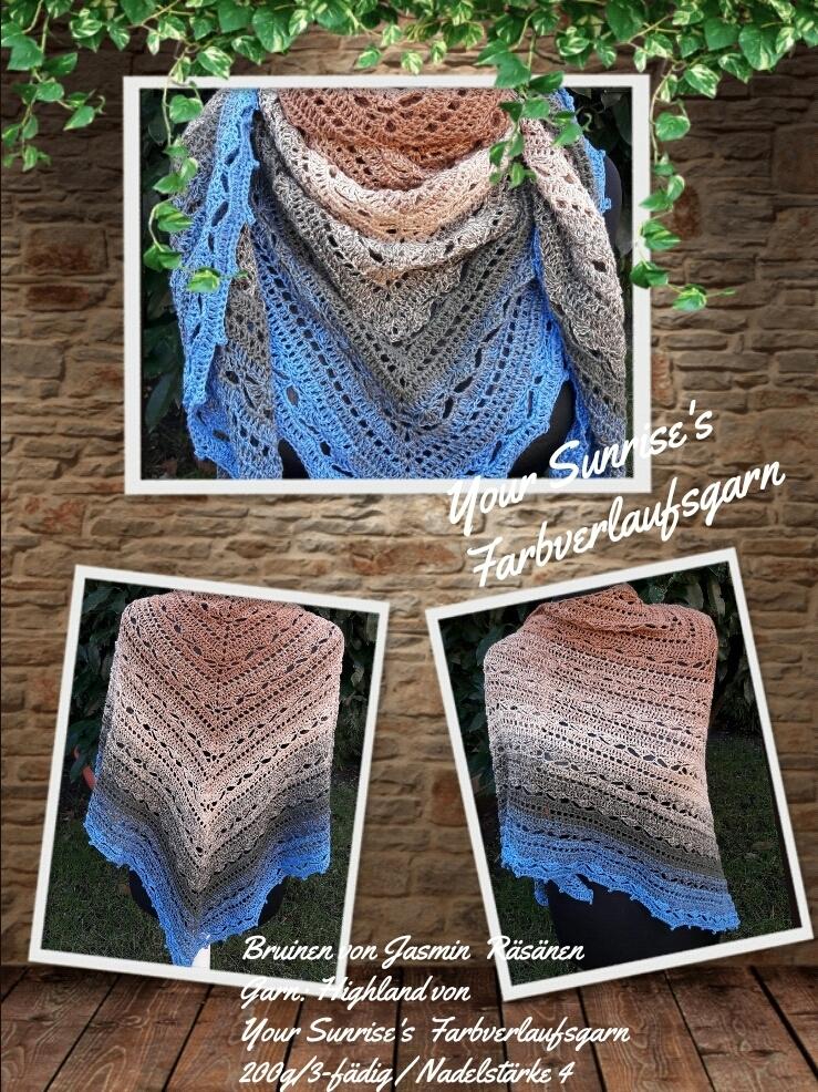 Bruinen Tuch Farbverlaufsgarn Textilien